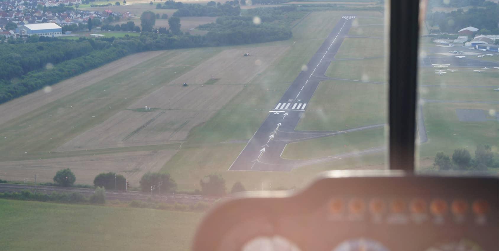 Atterrissage sur un aérodrome