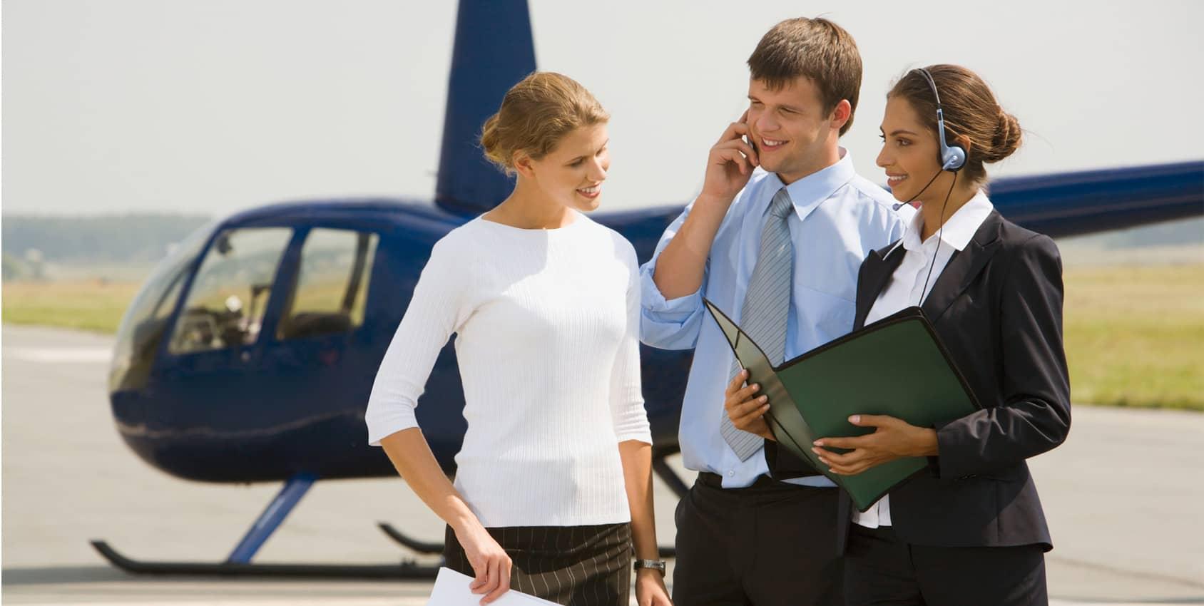 Evénement d'entreprise en hélicoptère